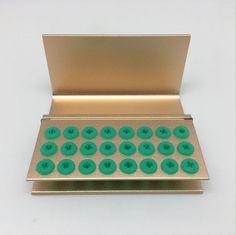 1pc 24 holes Dental FG RA Bur Burs Disinfection Holder Silicon Blocks Golden #Shiand2014