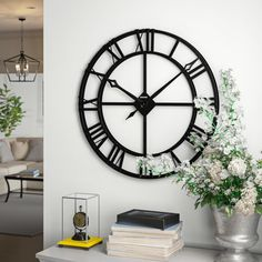 The Howard Miller Gallery Lacy Quartz Oversized Wall Clock is stylish and. Above Fireplace Decor, Large Metal Wall Clock, Traditional Wall Decor, Wall Clock Price, Law Office Decor, Kitchen Wall Clocks, Wall Clock Design, Fireplace Remodel, Iron Wall