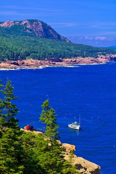 photos of mount desert island maine | Frenchman Bay, Acadia National Park, Mount Desert Island, Maine, USA