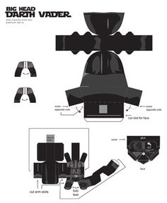 Chemical9: Big Head Darth Vader paper toy and printable template