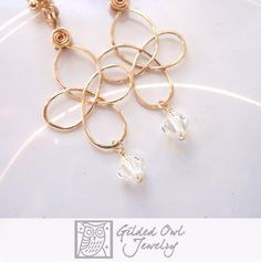Gold #Celtic Knot and Crystal #Earrings by @gildedowl