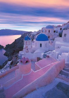 Greece - Santorin. I always always picture Greece like this as if from my point of view from our window. :)