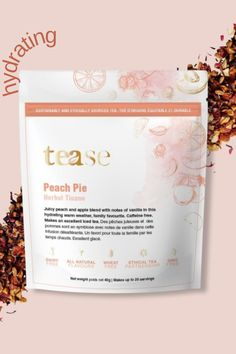 This summer tea will be the perfect summer drink! This subtly but sweet herbal tea infusion offers the lushness of peach seasoned with a hint of apple and vanilla. Child approved too! Works best as an iced tea! Tea Blends, Tea Infuser, Herbal Tea, Iced Tea, Hibiscus, Herbalism, Pie, Peach, Child