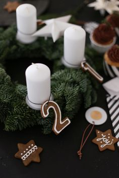 gingerbread advent number cookies...