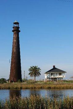 Bolivar lighthouse in Galveston