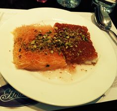 Try Knafeh! A beautiful dessert that mixes cheese and sweet syrup! A good metaphor of the contrasted city of Amman!