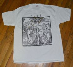 RaRe *1994 RUSH* vintage rock concert tour t-shirt MINT (XL) 80's Band Geddy Lee   eBay