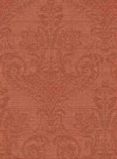 Red Jacquard Damask Distressed WALLPAPER, Faux Aged Look - Looks Like Worn Fabric  By The YARD - FN3623