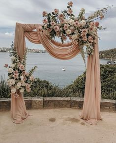 Wedding arch with draping blush fabric and monochromatic blush flowers arch blush Floral Wedding Arch Wedding decor Metal Wedding Arch Ceremony Arch Wedding Backdrop Wedding Photo bo Metal Wedding Arch, Wedding Altars, Wedding Stage, Wedding Ceremony Decorations, Dream Wedding, Wedding Arches, 1950s Wedding Decorations, Wedding Ceremony Floral Arch, Wedding Ideas