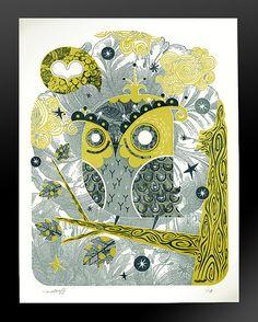 The Enamored Owl by Alberto Cerriteno.