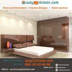 ‪#‎BedRoomInteriorDesigns‬ ‪#‎InteriorDesigns‬ ‪#‎InteriorDesigner‬ ‪#‎Interiors‬ ‪#‎BedRoom‬ for more beautiful Interior Designs from #way2nirman.com Contact Way2Nirman.com Interior Designers to design your dream Bed Room and other Interiors