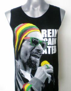 Snoop Dogg Singlet Tank Top Sleeveless Vest Hip Hop T-Shirt Black Size M