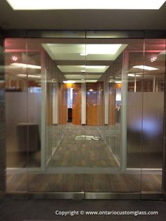 Ontario Custom Glass can provide you with most any style of decorative glass doors, including frosted glass doors, frameless glass doors, sliding glass doors, and glass walls, including installation. - http://www.ontariocustomglass.com