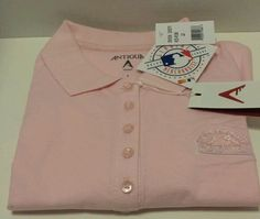 MLB Women's Licensed Colorado Rockies Antigua Spark Pink Polo Shirt Size L #Antigua #ColoradoRockies