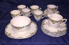Alfred Meakin Art Deco Floral Tea Service - Reduced!