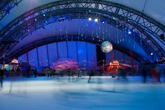 The ice rink at the Eden Project over winter is simply magical, especially at night. Visit early in the morning for quieter sessions.