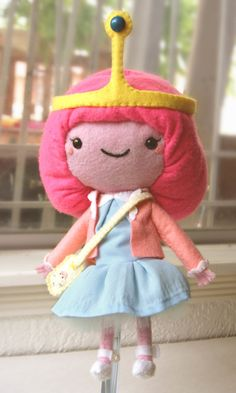 Adventure Time Marceline Princess Bubblegum crafts plush do want pb felt LSP