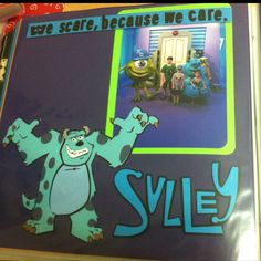 Monsters inc. scrapbook page - disney