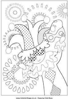 Coloring page- Mardi Gras