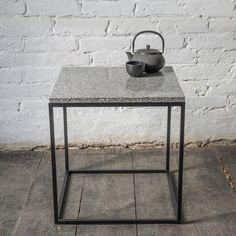 details zu couchtisch rana wohnzimmertisch beistelltisch metall gr ner marmor industrial. Black Bedroom Furniture Sets. Home Design Ideas