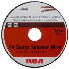 Rca AH1450SN 14-Gauge Speaker Wire (50 feet) by Terk. $10.81. RCA 50-foot, 14-Guage Speaker Wire connects speakers to you're A/V receiver or amplifier. Includes a spool for easy and convenient installation.. Save 28% Off!