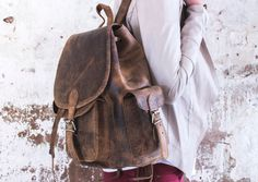 Our boho leather backpack for women will turn heads and draw the envy of all for its style and splendour.  #backpack #vintage #leather #giftideas #leathergift #adventure