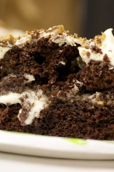 Weight Watchers Chocolate Caramel Toffee Crunch Poke Cake - 5 points plus