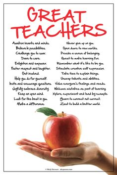 Teachers Inspire (Blue/Green Poster | Teacher Appreciation ...
