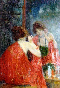 Hovsep Pushman // Armenian artist,   b.1877 - d.1966 // painting of Narcissa