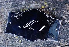 diy faux antique enamel sign, crafts