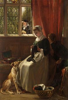 "1870 ~ ""The Truant in Hiding"" by John Callcott Horsley RA (1817-1903), English Academic Painter of Genre & Historical Scenes, Illustrator, most famously known as the Designer of the First Christmas Card ...."