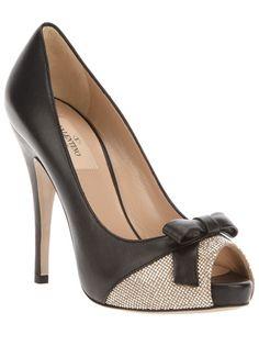 VALENTINO Peep toe pump. $622. http://www.farfetch.com/shopping/women/valentino-peep-toe-pump-item-10240365.aspx