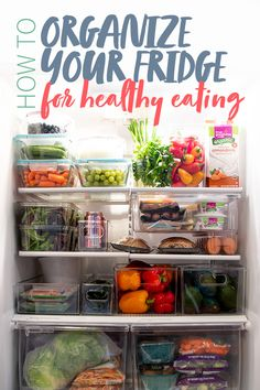 Here are the secrets to reorganizing your fridge for a physical, mental, and literal diet reset that will help guide you towards healthier eating. Clean Eating Recipes For Dinner, Clean Eating Breakfast, Clean Eating Meal Plan, Clean Eating Snacks, Healthy Eating, Healthy Foods, Refrigerator Organization, Recipe Organization, Kitchen Organization