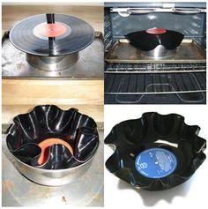 The Vinyl Bowl . ReFab Diaries: Repurpose: The Vinyl Bowl .ReFab Diaries: Repurpose: The Vinyl Bowl . Disco Party, Vinyl Platten, 50s Theme Parties, 50s Party Decorations, Vinyl Record Crafts, Fifties Party, Retro Party, Grease Party, Sock Hop Party