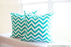 Tiffany Blue Throw Pillow Covers  TWO 18x18 by SavannahRaeDesigns, $40.00