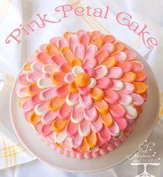 Petal Cake rose et orange