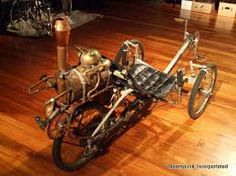 steampunk trike,veiw from the right Time Warp, Power Recliners, Steampunk Fashion, Cannon, Victorian, Bike, Technology, Metal, Steam Punk