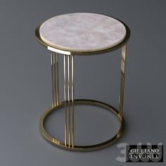 Explore the most renown luxury brands that will be present at Maison et Objet 2018 to exhibit their most extravagant furnitures Metal Side Table, Modern Side Table, Round Side Table, Steel Coffee Table, Color Dorado, Inexpensive Furniture, Steel Furniture, Luxurious Bedrooms, Furniture Design