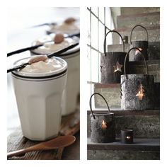 bucket lights for outside stairs