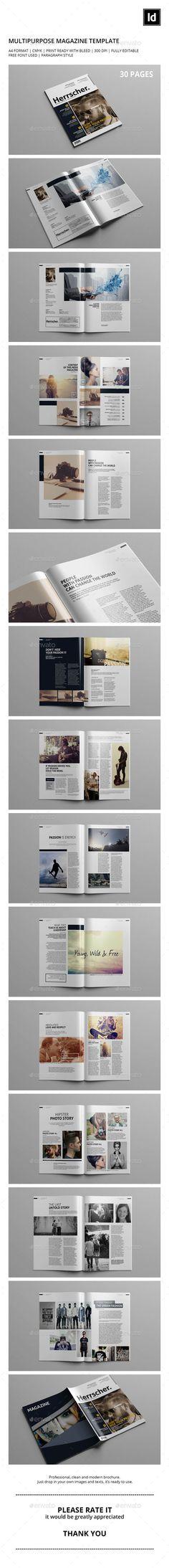 Multipurpose Magazine Template | GraphicRiver