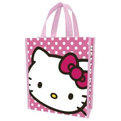 PRETTY IN PINK HELLO KITTY REUSABLE TOTE