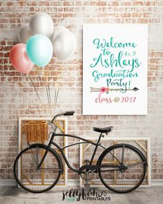 Boho Graduation Party Sign - Welcome to the (graduates name) Party. DIY Printable or Printed. Bible Verse Canvas, Canvas Quotes, Gold Bridal Showers, Bridal Shower Signs, Wedding Showers, Loft Interiors, Graduation Party Decor, Graduation Celebration, Grad Parties