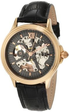 Men's Wrist Watches - Stuhrling Original Mens 167334569 Classic Delphi Priam Automatic Skeleton Rose Tone Watch ** You can get additional details at the image link.