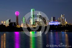 Dallas Skyline Night Scenes Editorial Image - Image: 72520180