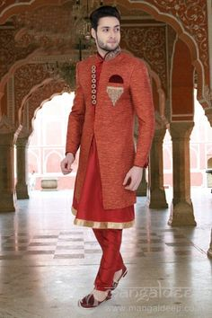 http://www.mangaldeep.co.in/latest-men-wear/orange-jute-designer-sherwani-for-wedding-8243 For more information :- Call us @ +919377222211 (Whatsapp Available) (y) :)