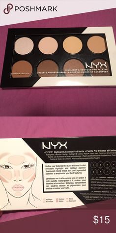 NEW highlight and contour palette Brand new and sealed. BYX highlight and contour pro palette. NYX Makeup