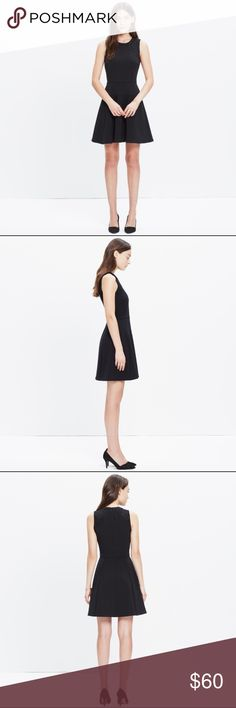 Madewell Black Lace Inset Anywhere Dress Black Lace Inset Anywhere Dress Madewell Dresses