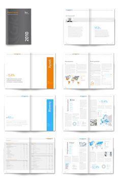 Annual Report 2010 by Artur Busz, via Behance