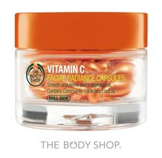 VITAMIN C FACIAL RADIANCE CAPSULES An all-time favourite to provide skin with pure vitamin C to help even out skin tone, brighten a dull complexion and leaving skin radiant-looking over time.