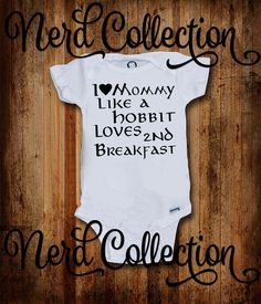 Baby Onesie I Love Mommy Like a Hobbit Loves a by NerdCollection Mechanic Tools, Car Tools, Dad Baby, Daddys Little, Man Cave Garage, My Daddy, New Dads, Vinyl Crafts, Baby Onesie